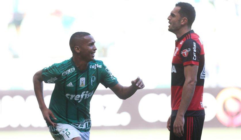 Os dois gols de Deyverson foram marcados no primeiro tempo. (Cesar Greco/Ag Palmeiras/Divulgação)