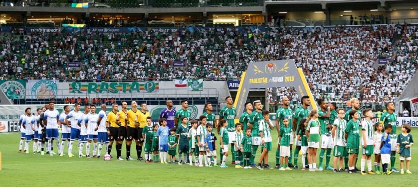 Palmeiras estreiou no Paulistão com vitória por 3 a 1 sobre Santo André. (Cesar Greco/Ag Palmeiras/Divulgação)