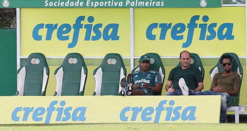 Roger Machado deverá poupar os atletas mais desgastados contra Alianza Lima. (Cesar Greco/Ag Palmeiras/Divulgação)