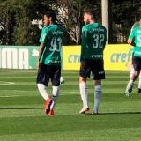 Luiz Adriano se apresenta ao Palmeiras e faz primeiro treino com elenco em campo