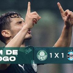 Com desperdício de oportunidades, Palmeiras se contenta com o empate do Grêmio