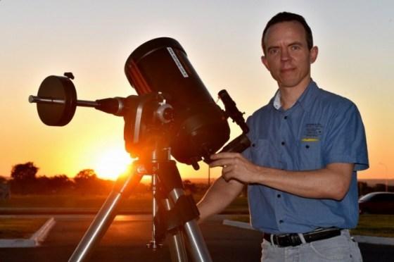 Maciel Bassani Sparrenberger, diretor técnico do Clube de Astronomia de Brasília (Casb)