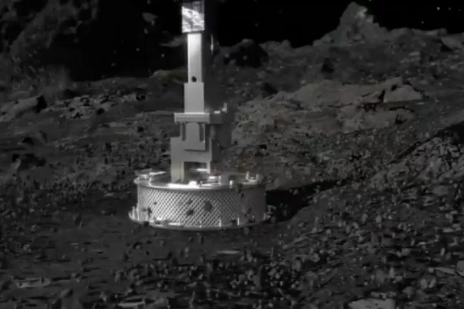 NASA's OSIRIS-REx spacecraft has just touched the surface of the asteroid Bennu