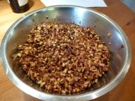 The mix for the nut tart, ready to be cooked
