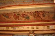 Ceiling painting just above the stage