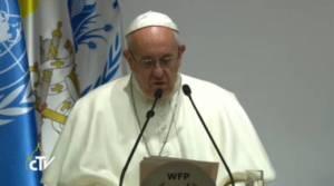 Discurso Papa Francisco en la sede del Programa Mundial de Alimentos