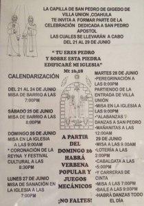SANTUARIO DULCE NOMBRE DE JESÚS INVITA A LAS FESTIVIDADES DE SAN PEDRO Y SAN PABLO
