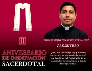 II ANIVERSARIO SACERDOTAL PBRO. ROBERTO ZAMARRIPA HERNÁNDEZ