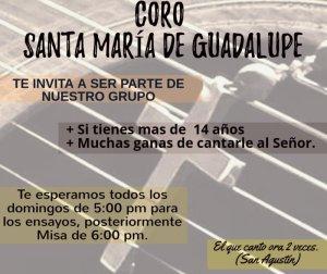 SE PARTE DEL CORO DE SANTUARIO DE GUADALUPE EN PIEDRAS NEGRAS