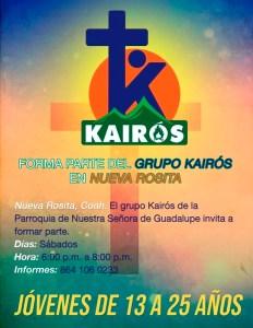 FORMAR PARTE DEL GRUPO KAIRÓS EN NUEVA ROSITA