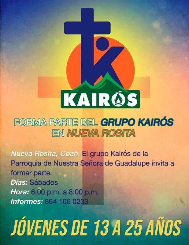 FORMA PARTE DEL GRUPO KAIRÓS EN NUEVA ROSITA