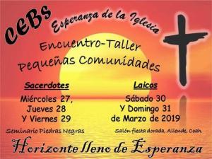 "ENCUENTRO- TALLER ""PEQUEÑAS COMUNIDADES"""