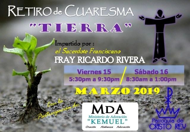 CRISTO REY INVITA A SU RETIRO DE CUARESMA 2019 EN PIEDRAS NEGRAS