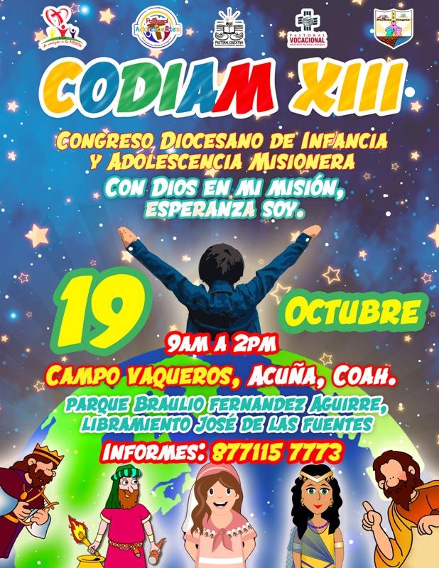 SE INVITA AL XIII CODIAM EN CIUDAD ACUÑA (CAMBIO DE LUGAR)