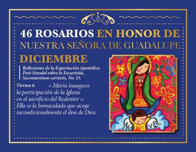 46 ROSARIOS EN HONOR A NUESTRA SEÑORA DE GUADALUPE (DÍA 41)