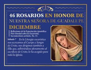 46 ROSARIOS EN HONOR A NUESTRA SEÑORA DE GUADALUPE (DÍA 42)