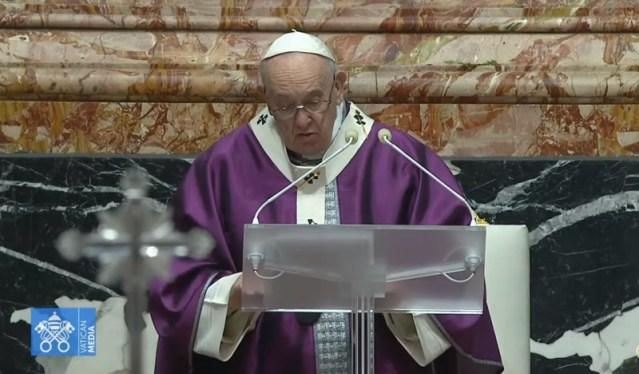 Homilía del Papa Francisco en la Misa del Miércoles de Ceniza