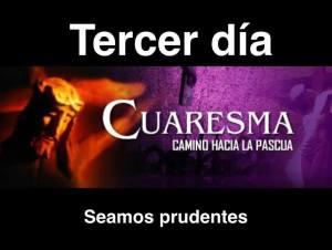 TERCER DÍA DE CUARESMA