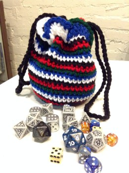 5 Color Spiral Dice Bag