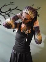 Daughter of Dragons Shrug & Dragon Scale Head Kerchief