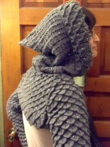 Hooded Dragon Scale Shrug