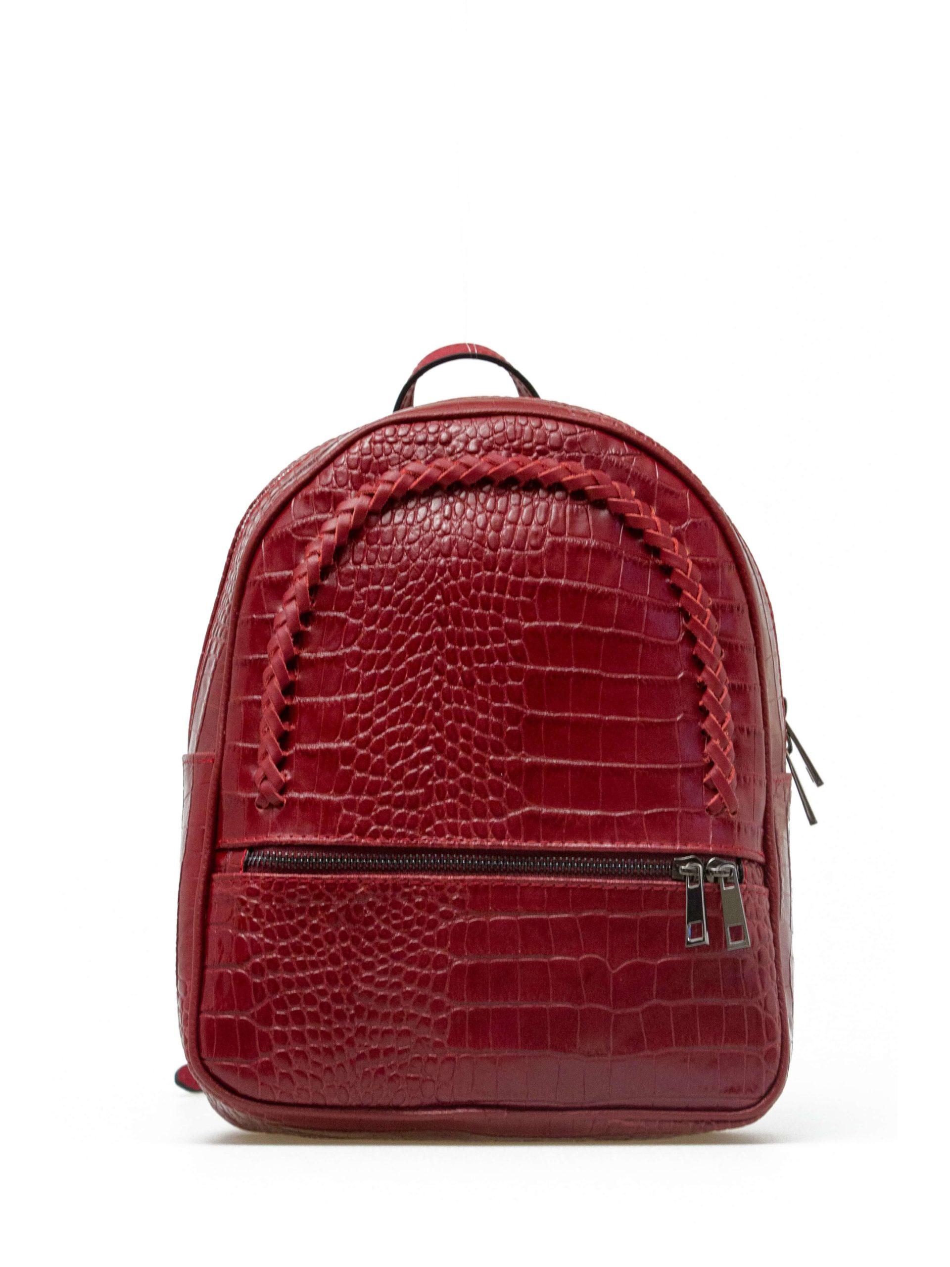 рюкзак женский красный