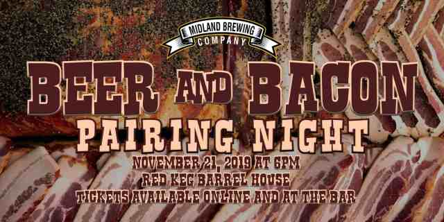 Beer and Bacon pairing night occurring at the Red Keg Barrel House. Paired beers with specialty bacon inspired plates to taste and pair!