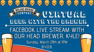 Join Kyle for a virtual beer during a Facebook Live session and ask questions and get to know him!