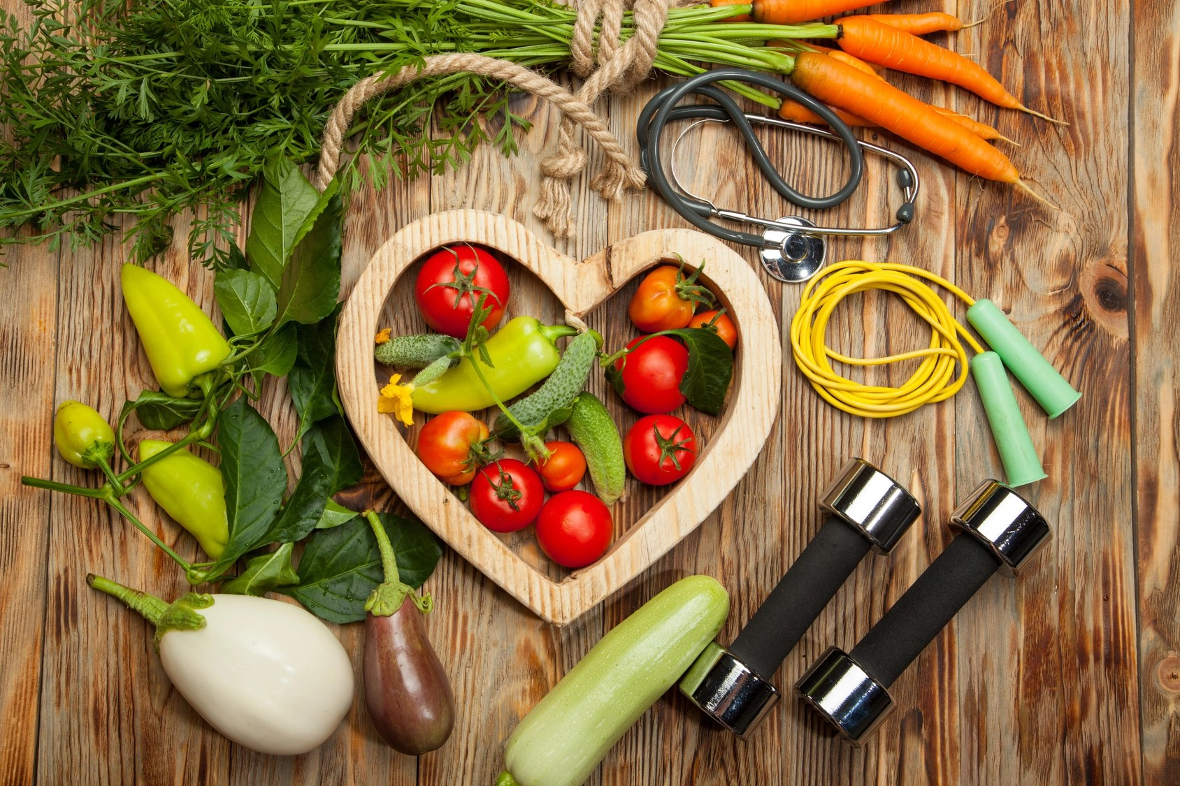 Sport Andt Fresh Vegetables Healthy Lifestyle