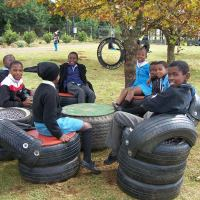 School Stuff - eco-art, trees, insects, cranes and water