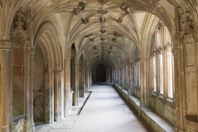 The Cloisters at Lacock Abbey, Wiltshire.