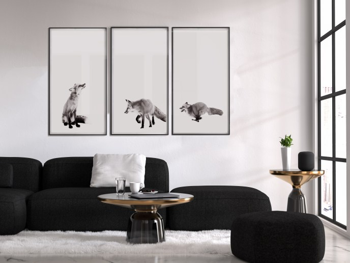 Set of Foxes Framed.jpg