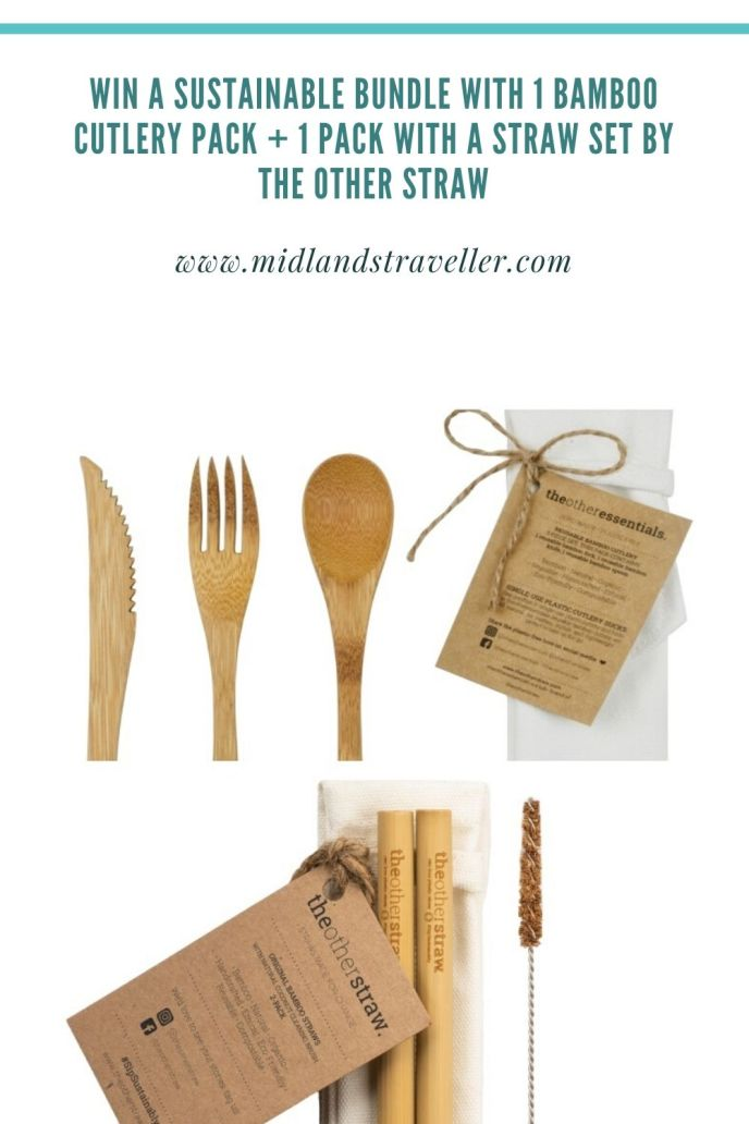 Win a Sustainable Bundle with 1 Bamboo Cutlery pack + 1 pack with a Straw set by The Other Straw