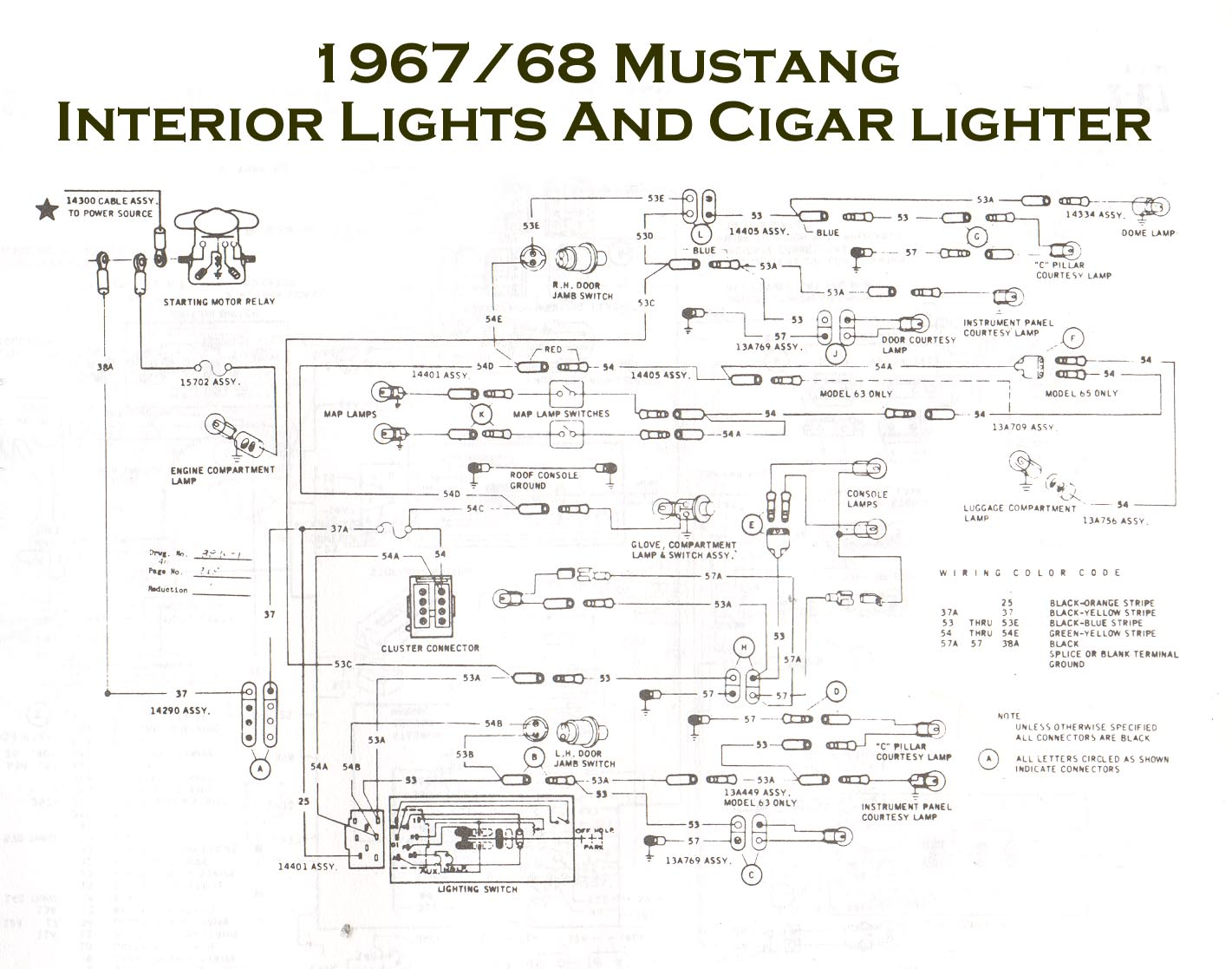 68 Mustang Turn Signal Wiring Diagram 1968 Mustang Wiring Diagram 67  Mustang Turn Signal Wiring Diagram