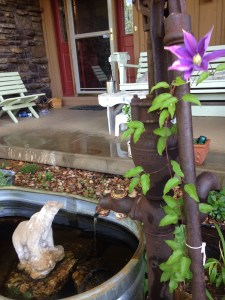 Repurposed Windmill Water Pump