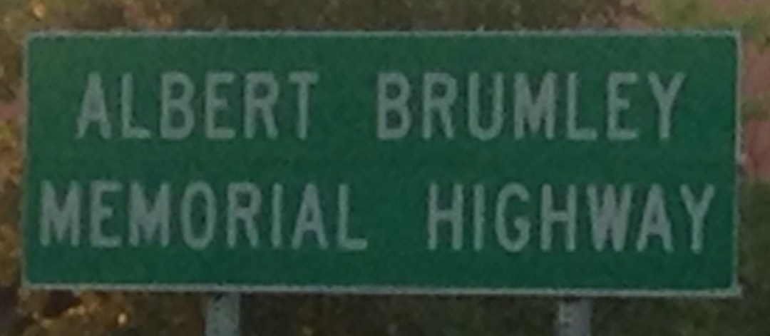 Albert Brumley Memorial Highway sign from Mid-Life Blogger