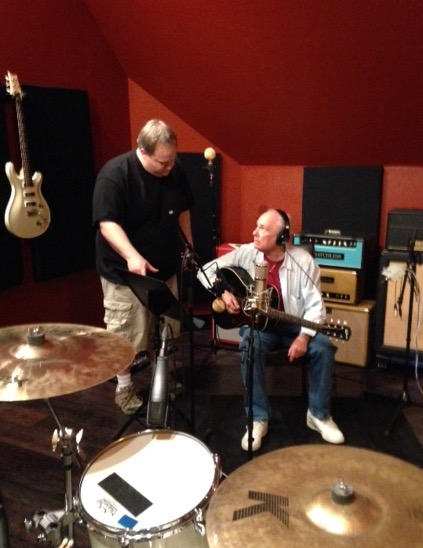 "Bob Brumley recording ""I'll Fly Away"" for Greaterthemovie"
