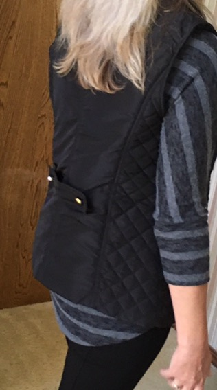 Back Detail of Lazarus Quilted Puffer Vest