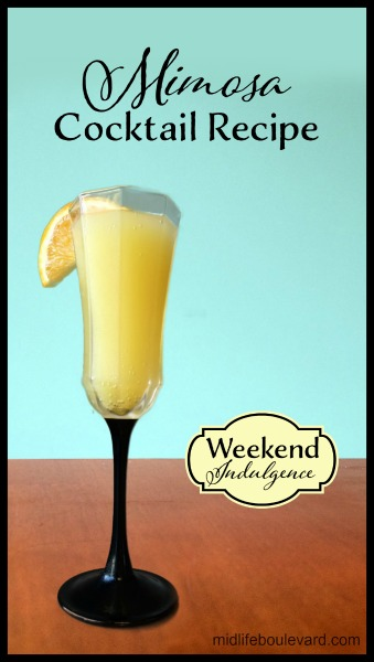 Weekend Indulgence Mimosa Cocktail for the New Year
