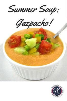 Enjoy this cool summer soup recipe. Use your fresh summer produce for this gazpacho recipe.