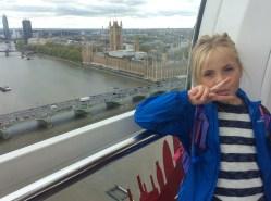 Holly on the London Eye