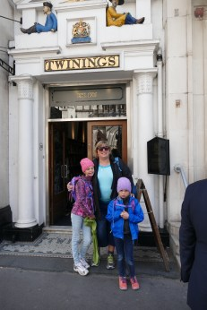 Outside the Twinings store - the store is only as wide as the entrance