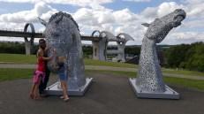 Replica Kelpies at the Falkirk Wheel