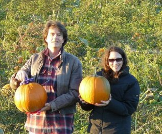 My friends Sarah and William at my favorite Memphis fall hangout, Tom's Farm.
