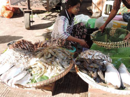 Market - Yangon, Buram