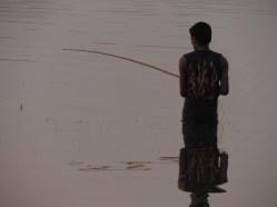 Fishing at Sunset - U Bein Bridge, Burma