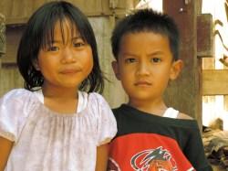 Children from Kete Kesu village