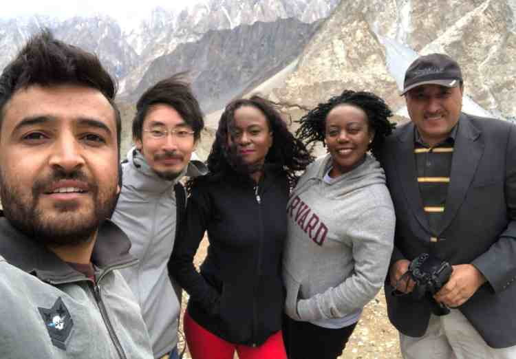 Tourists traveling in Hunza Valley