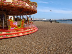 Carousel on Brighton Beach, England