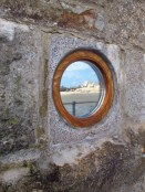 Out of a walk and need to heck your lippy? That's what a mirror in a wall is for! St. Ives, England